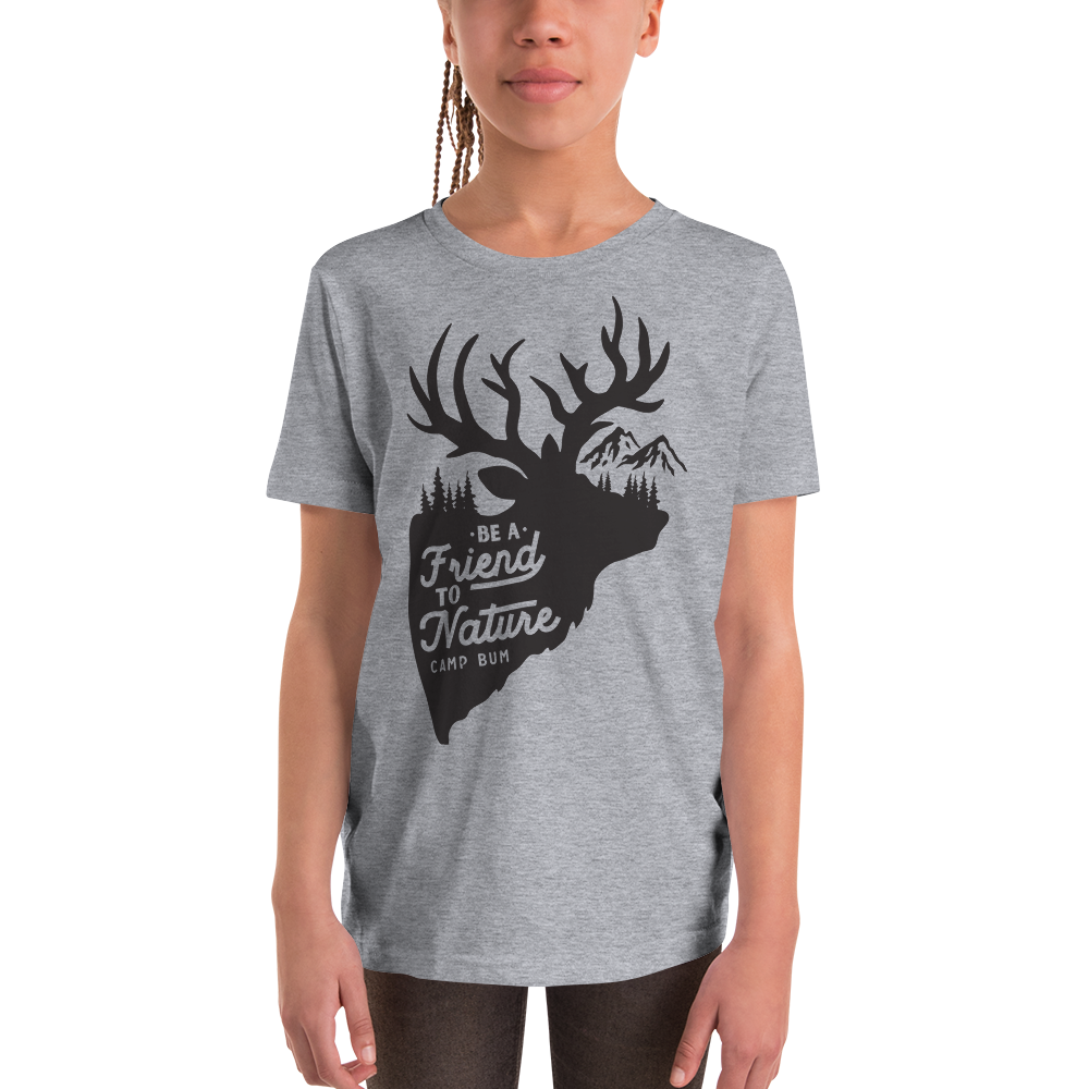 Children's Camp Bum Be A Friend To Nature Tshirt