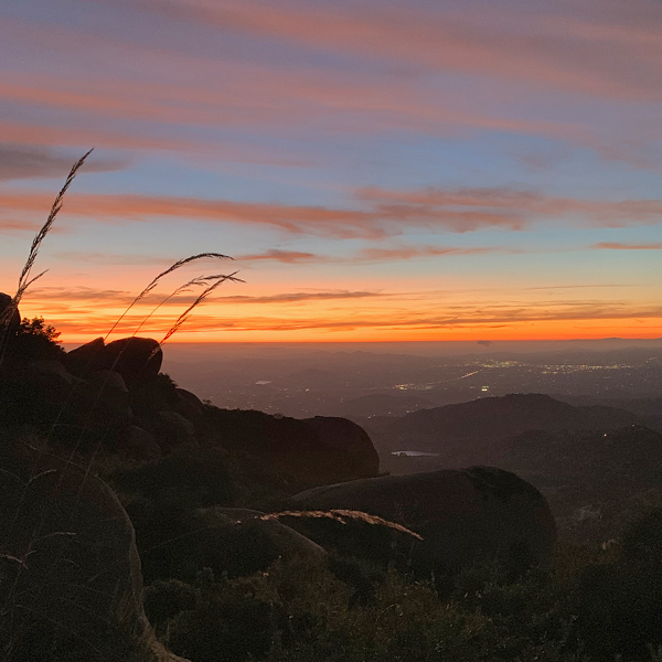 Mount Woodson Sunset